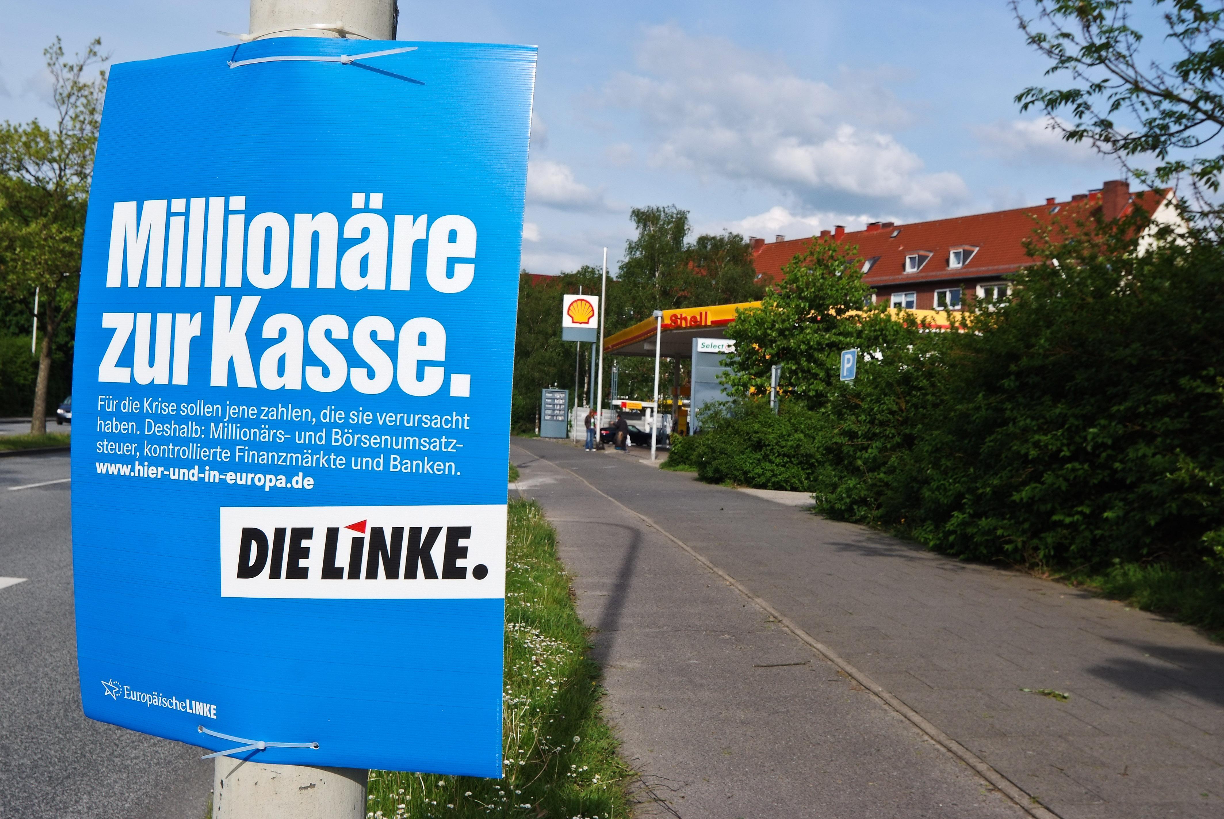 """Tichys Einblick: Warum hängen die Plakate der """"Linken"""" rechts?"""