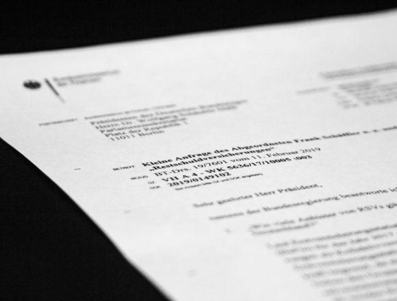 Schriftliche Frage: Fehler bei der Erhebung der Daten zu den Vergütungen des Vermittlungserfolges bei Lebensversicherungen