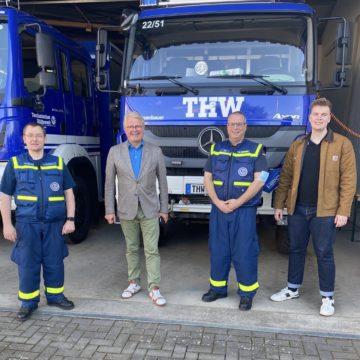 FDP-Bundestagsabgeordneter Schäffler dankt THW für Einsatz in Stolberg